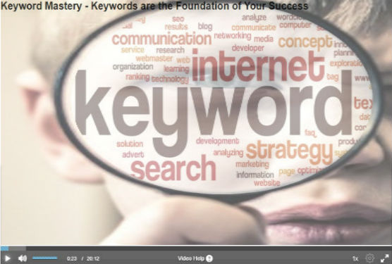 wealthy affiliate university review keyword video