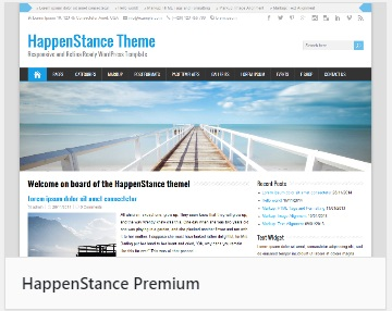 WordPress them HappenStance