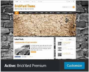 WordPress theme brickyard