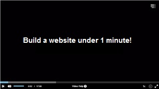 build website under 1 minute