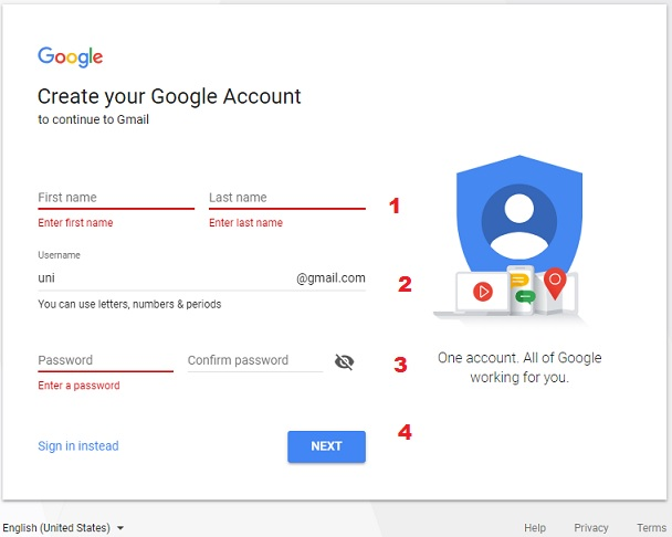 gmail personal info