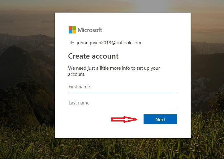 hotmail create an account