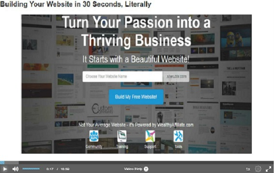 Build a business website in less than 1 minute