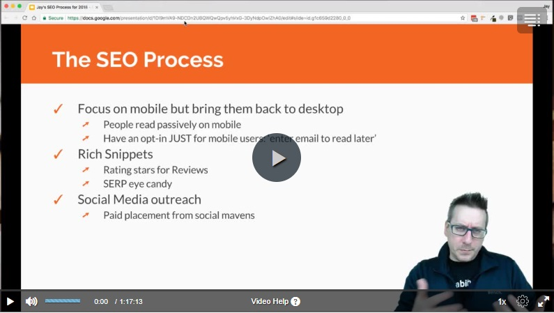 seo process video