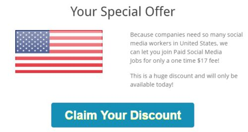 Paid Social Media Jobs special offer