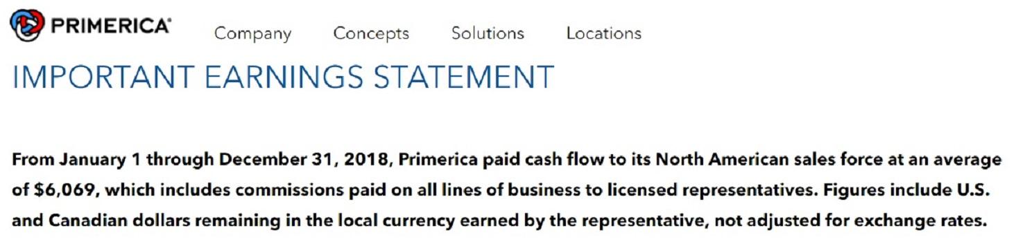 Primerica earnings disclosure