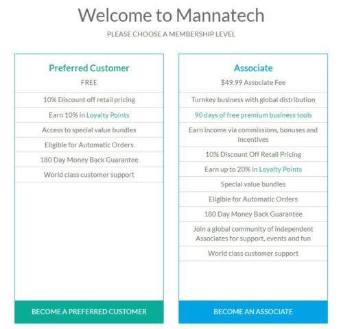 Mannatech review membership
