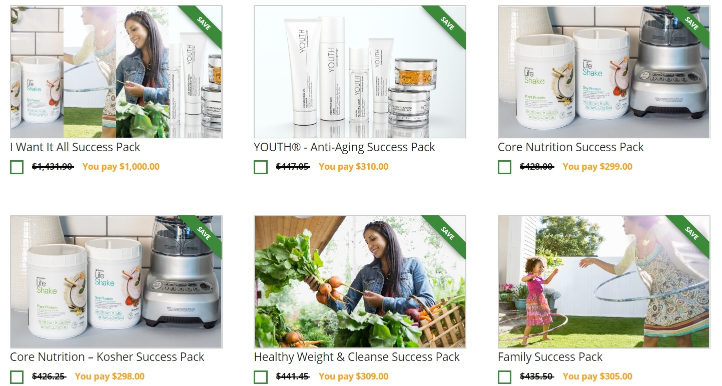 Shaklee Review success packs