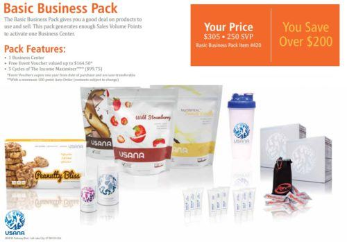USANA review basic business pack