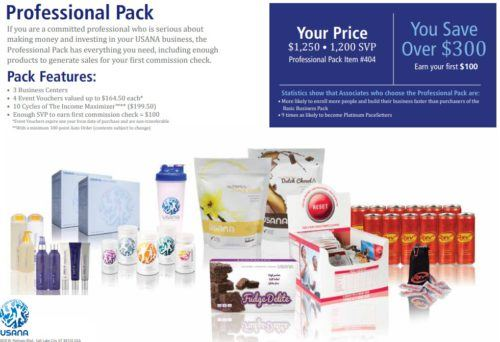 USANA review professional pack