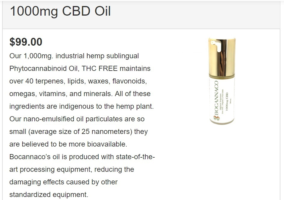 Bocannaco Scam CBD Product