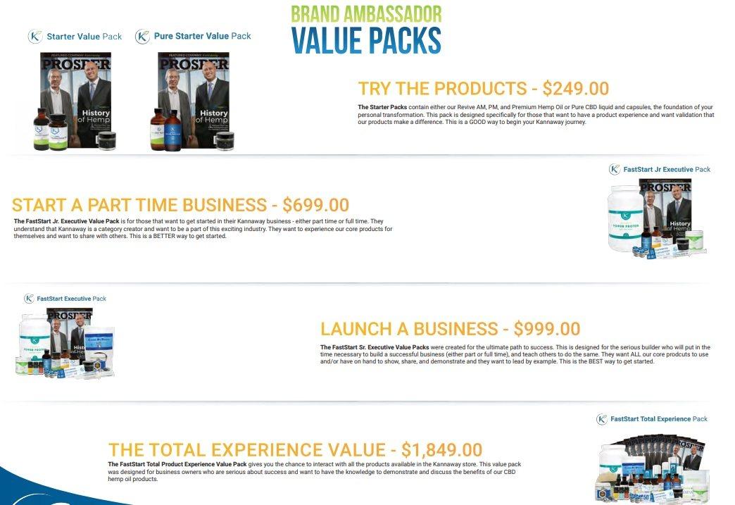 Kannaway Value Pack