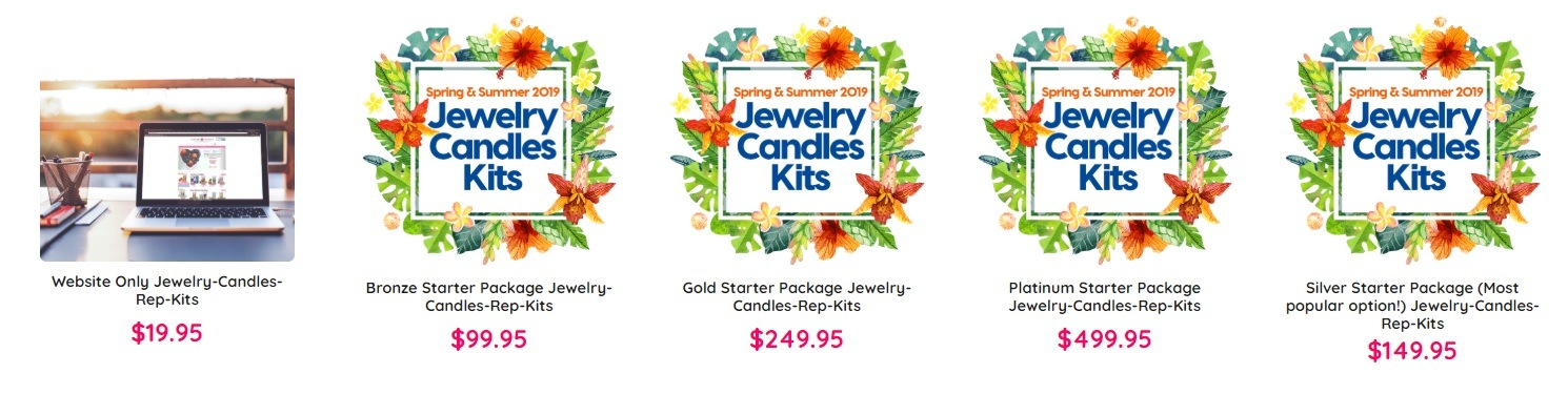 Jewelry Candles review rep kits