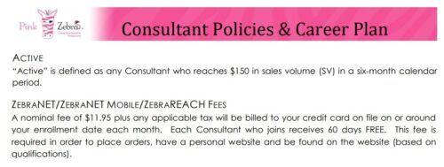 Pink Zebra scam policy
