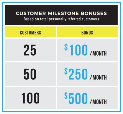 5LINX customer milestone bonus