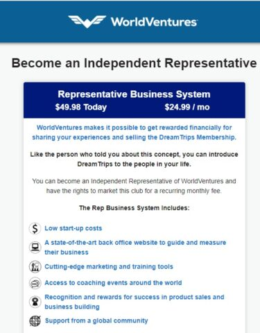 WorldVentures Rep Business System