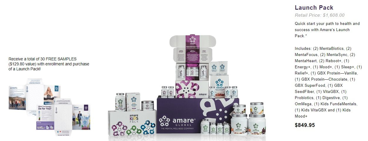 Amare Global business pack