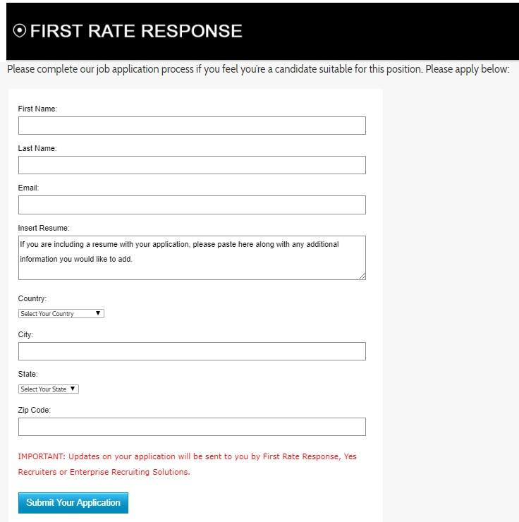firs rate response application